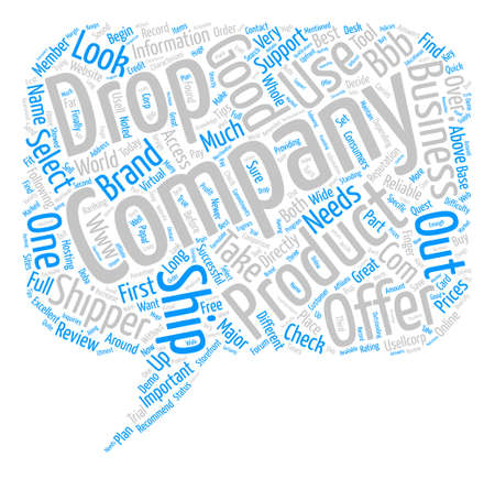 Why Use Drop Ship Products text background word cloud concept