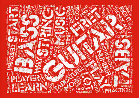 The Art Behind Bass Guitar Tabs Word Cloud Concept Text Background