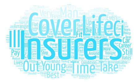 furthest: Life Insurance Plan For Life Word Cloud Concept Text Background