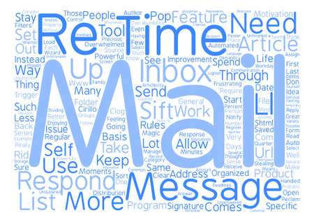 E mail Magic text background word cloud concept