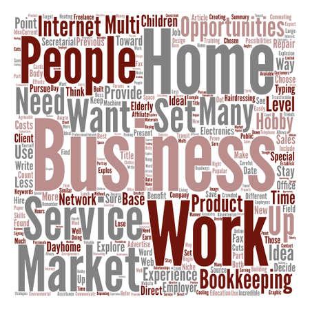 Home Business-Möglichkeiten Text Hintergrund Wort Wolke Konzept