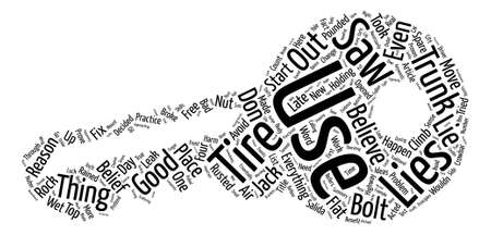 Useful Lie Number One Word Cloud Concept Text Background
