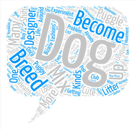 decades: Designer Breeds Will You Remember Me text background word cloud concept Illustration