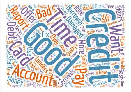 qualify: What Happens When Your Credit is Damaged Word Cloud Concept Text Background