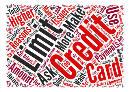 How Can I Change My Credit Limit Word Cloud Concept Text Background