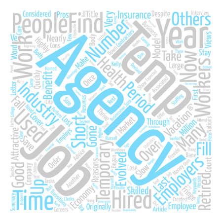 How Temp Agencies Has Evolved Word Cloud Concept Text design
