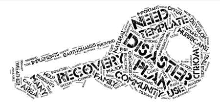 What Are Disaster Recovery Templates And How Do They Help text background word cloud concept Ilustrace