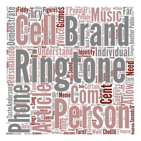 ringtones what s the point text background word cloud concept