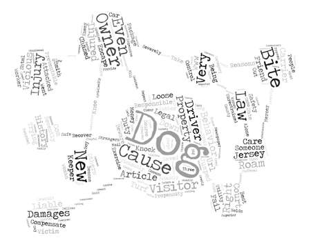 beware: Dog Owners Beware text background word cloud concept