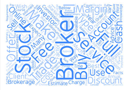 commissions: Stock Brokers Just The Facts Word Cloud Concept Text Background