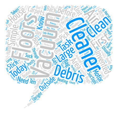 The History Of Vacuum Cleaners Word Cloud Concept Text Background