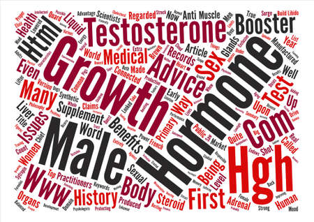 testes: Male Growth Hormone Word Cloud Concept Text Background