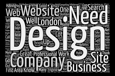 London Web Design text background word cloud concept Illustration