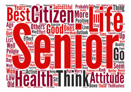 The Best Senior Citizens Ever Word Cloud Concept Text Background