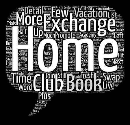 sprung: Home Exchange Academy e Book Word Cloud Concept Text Background Illustration