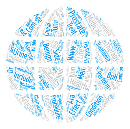 benign: TUNA Therapy Combats Benign Prostatic Hyperlasia text background word cloud concept