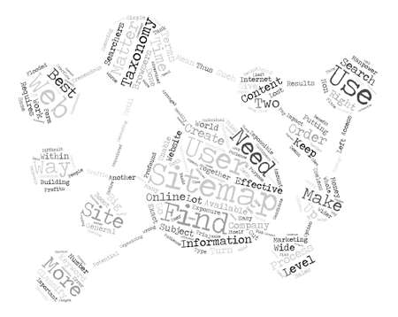 JP sitemap taxonomy text background word cloud concept Illustration