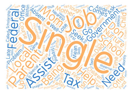 government assistance for single parents text background word cloud concept