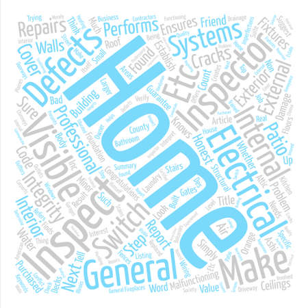 What Does a Home Inspector Do text background word cloud concept