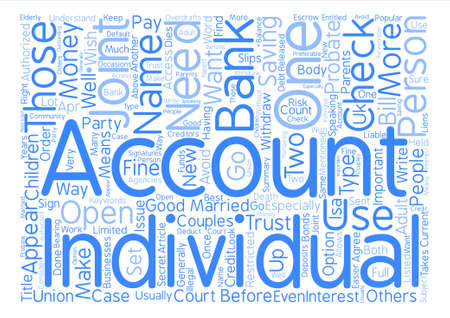 checking account: What Is A Joint Account text background word cloud concept