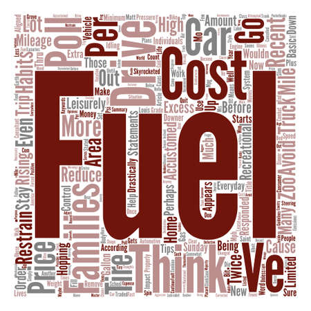 according: High Fuel Cost And What It Means To Our Everyday Lives Word Cloud Concept Text Background