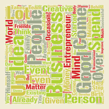 How To Come Up With Good Business Ideas text word cloud concept