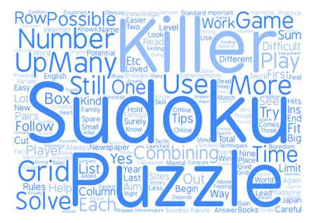killer sudoku Word Cloud Concept Text Background