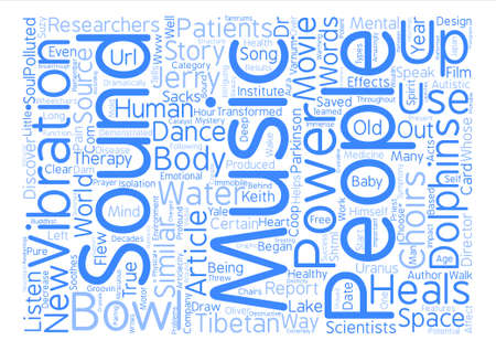 Sound Heals text background word cloud concept Иллюстрация