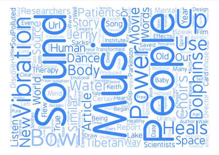 Sound Heals text background word cloud concept Illustration