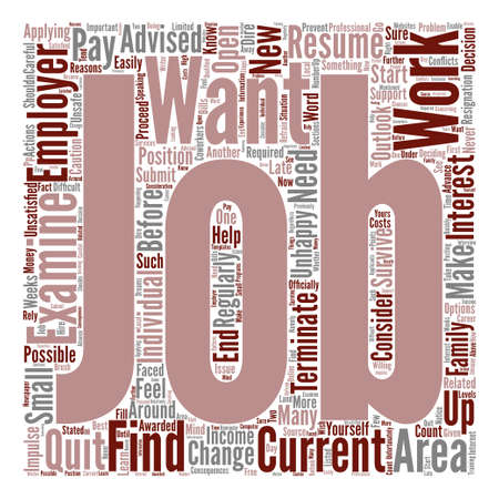 What to D If You Would Like to Change Jobs Word Cloud Concept Text Background