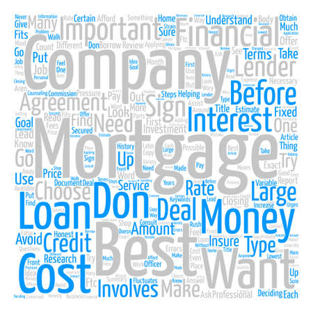 How To Choose The Best Mortgage Word Cloud Concept Text Background