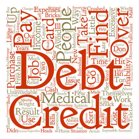 How Do People Get Into Debt text background word cloud concept
