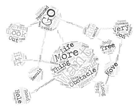 Regardez où vous voulez aller Word Cloud Concept Background Background Banque d'images - 74204320