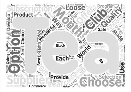 What Is A Tea Of The Month Club Word Cloud Concept Text Background