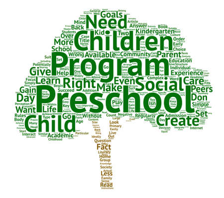 fact: Does Your Child Need To Go To Preschool Word Cloud Concept Text Background