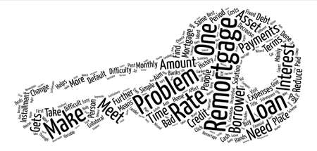 Problem Remortgage Word Cloud Concept Text Background
