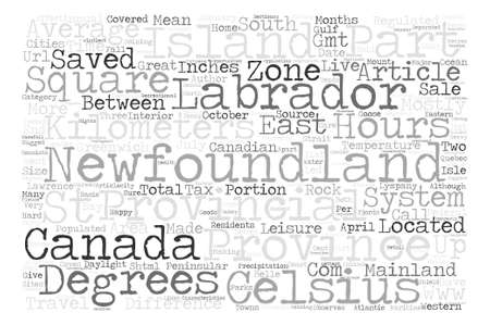 easterly: Newfoundland and Labrador text word cloud concept
