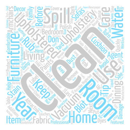 Upholstery Upkeep text background word cloud concept