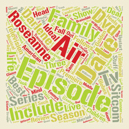 Roseanne DVD Review Word Cloud Concept Text Background