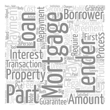Mortgage Can Be A Long Engagement text background word cloud concept