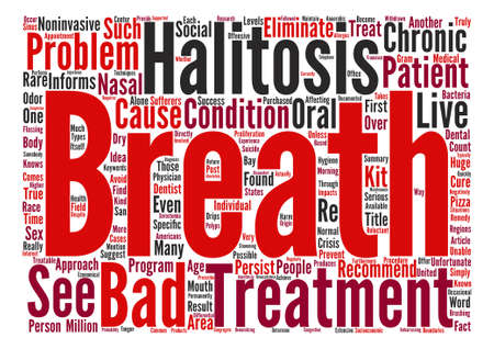 Serious Persistent Bad Breath IS Treatable text background word cloud concept