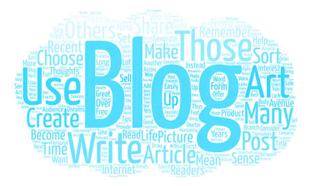 How To Blog text background word cloud concept