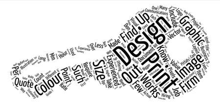The Value of an Experienced Graphic Designer text  word cloud concept