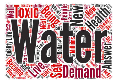 Water The st Century Business Word Cloud Concept Text Background Illustration