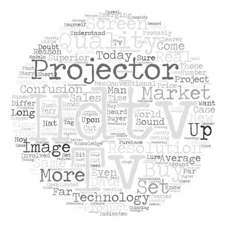 Hdtv projector Word Cloud Concept Text Background