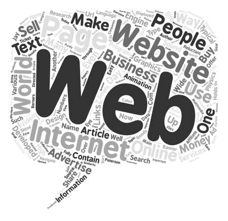 Use Websites Make Money the Easy Way text background word cloud concept Illustration