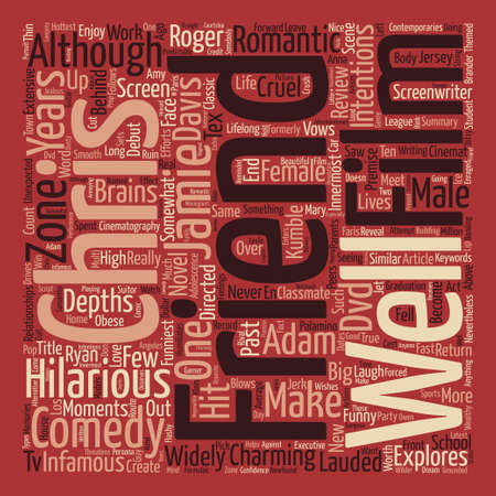Just Friends DVD Review Word Cloud Concept Text Background
