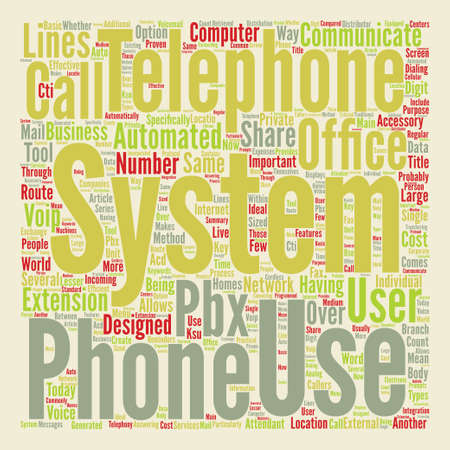 extensively: Telephone Systems In The Office Word Cloud Concept Text Background