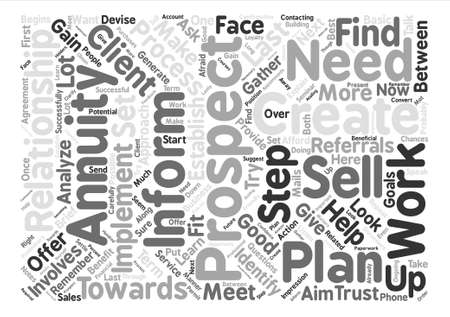 How to Sell My Annuity Word Cloud Concept Text Background
