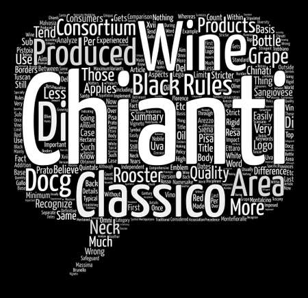 chianti: The Difference Between Chianti Wine And Chianti Classico Wine Word Cloud Concept Text Background